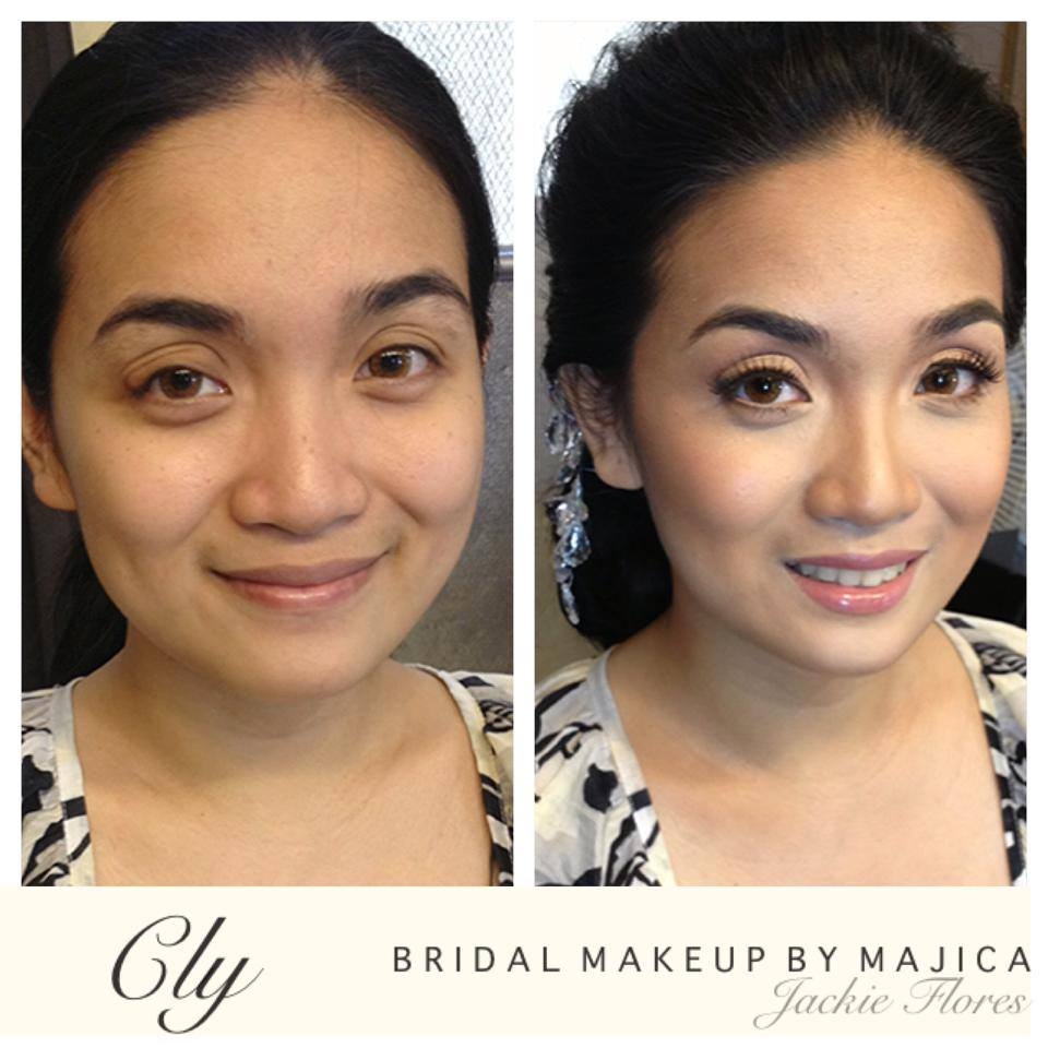 Wedding Day Makeup Before And After : A Calm Bride Trusts her Makeup Artist Majica Makeover ...
